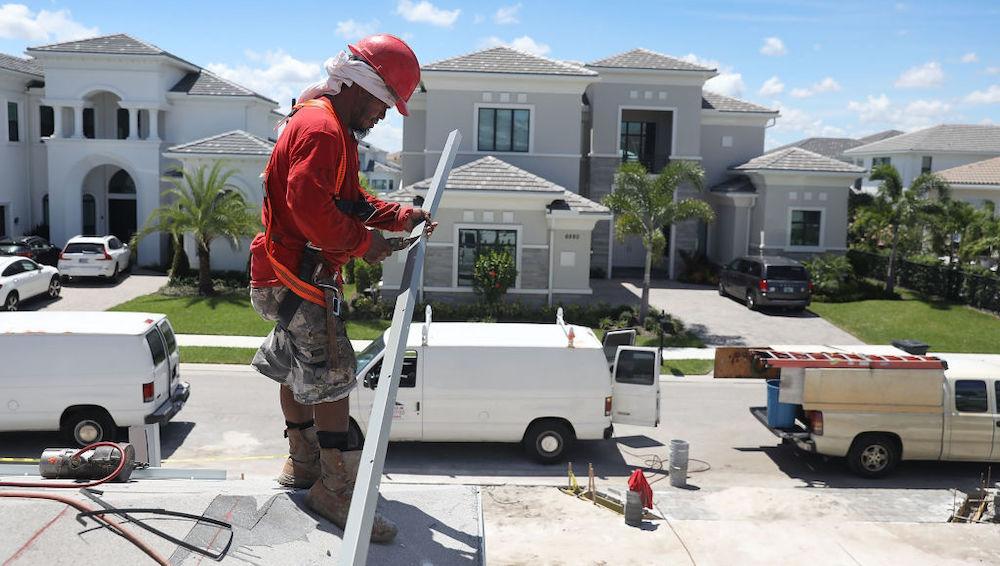 Home construction in Boca Raton, Florida